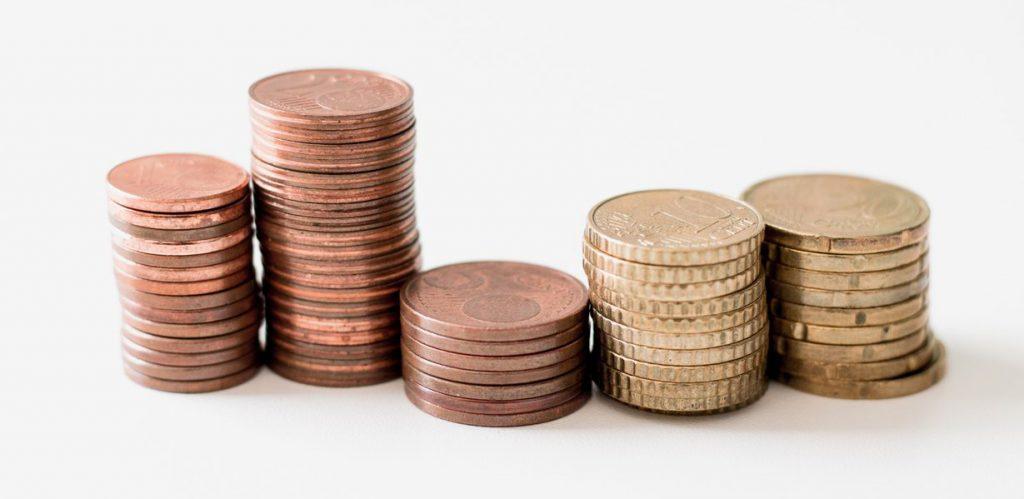 Pieniądze monety wybór pożyczki